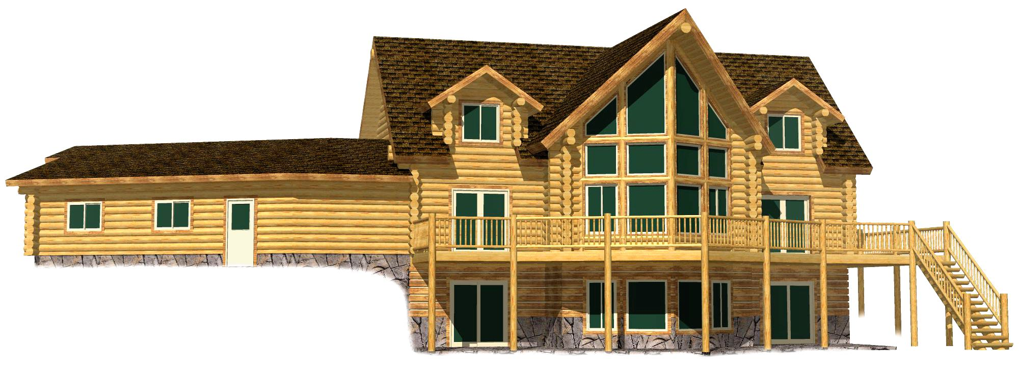 Lazarus Log Home 217 17 Precision Structural Engineering