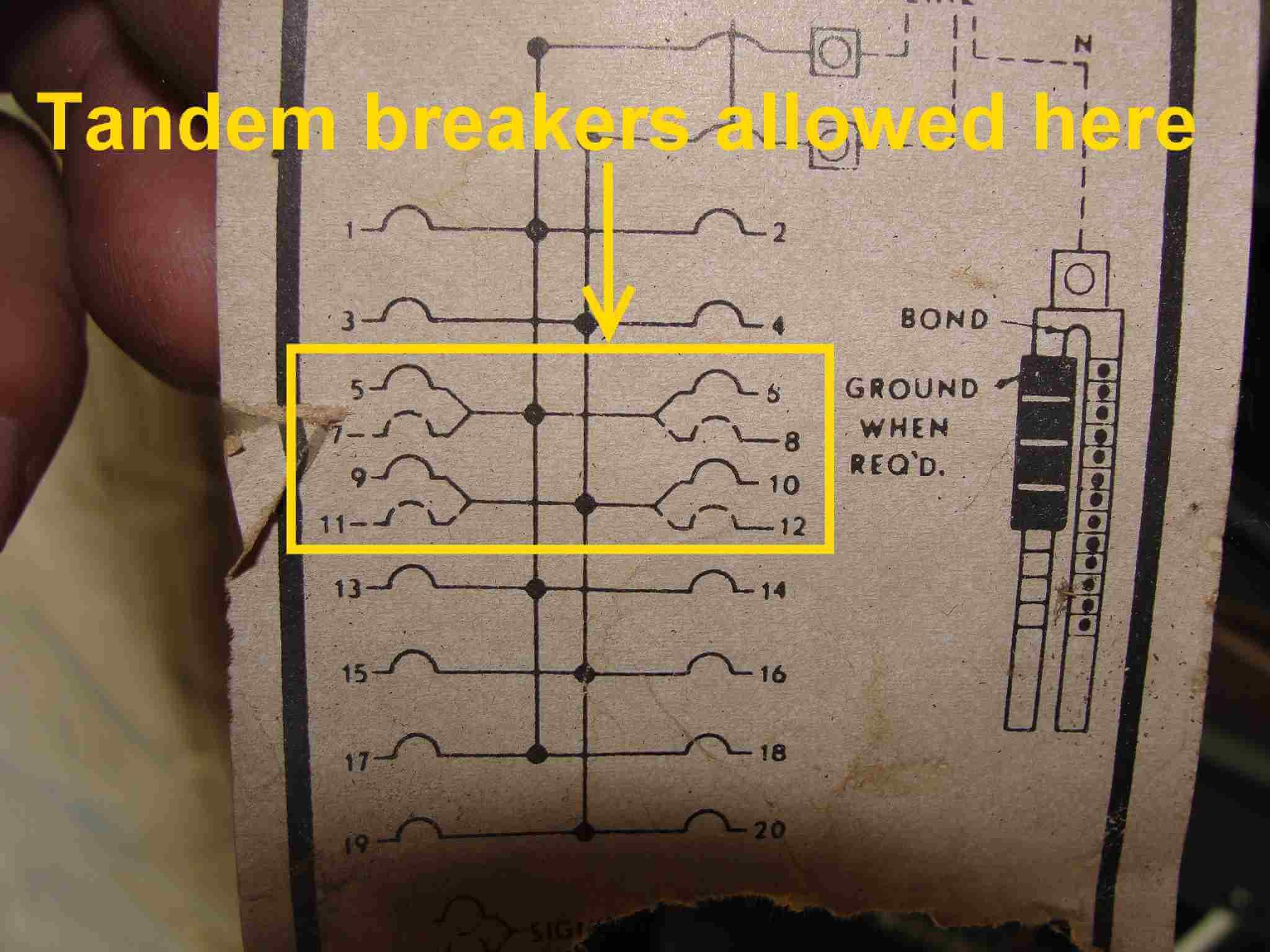 home circuit wiring diagrams charlotte doyle ship diagram how to know when tandem breakers can be used aka cheater panelboard 2