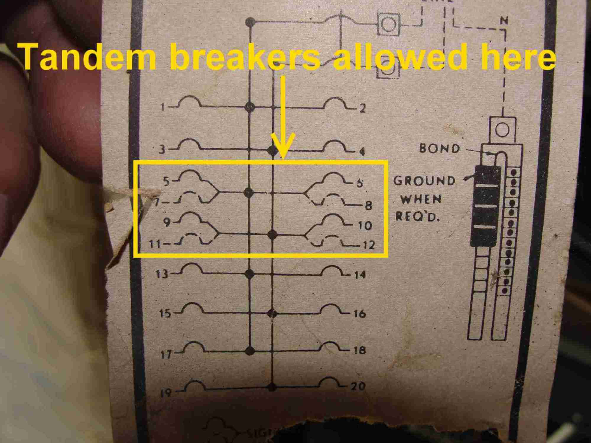 hight resolution of how to know when tandem circuit breakers can be used aka cheaterge breaker diagram