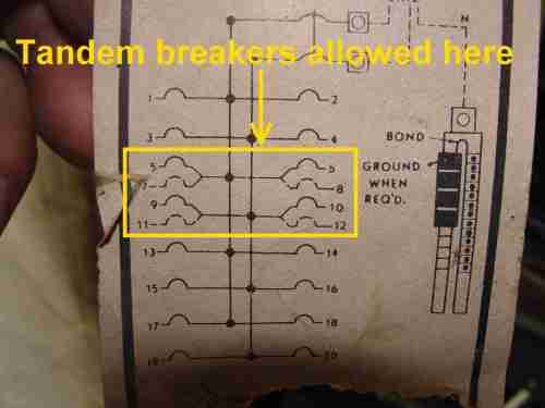 small resolution of how to know when tandem circuit breakers can be used aka cheaterge breaker diagram