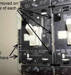 break tab wiring multiple outlet [ 1024 x 768 Pixel ]