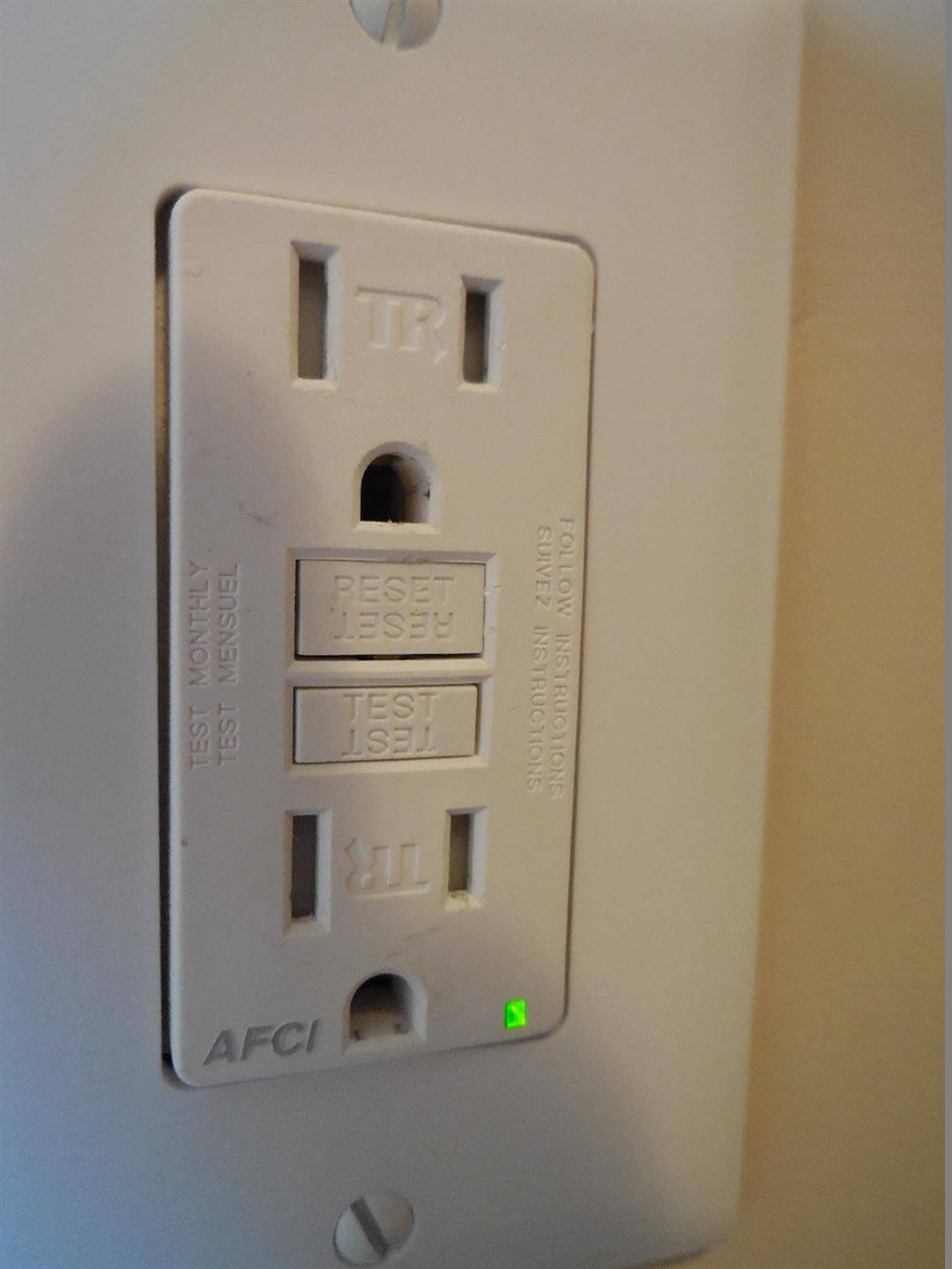 hight resolution of new electrical safety requirement afci protection for replacement outlets