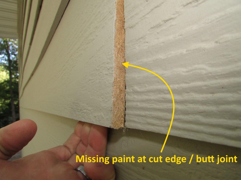 hight resolution of unpainted cut edge