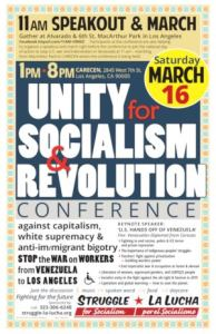 Greetings to 'Unity for Socialism and Revolution' conference