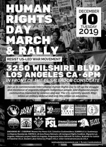 Los Angeles Dec. 10: Human Rights Day Rally & March