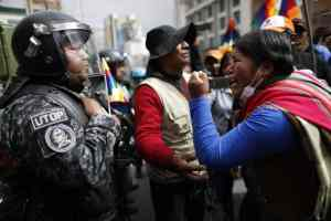 Bolivia resists racist coup