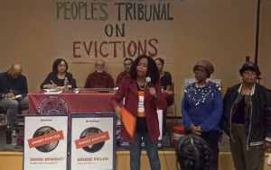 People's Tribunal on Evictions in NYC puts landlords on trial