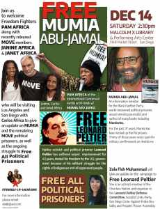 San Diego Dec. 14: Welcome Freedom Fighter Pam Africa