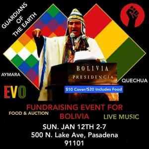 Pasadena, Calif., Jan. 12: Festival Patria Grande fundraising event for Bolivia