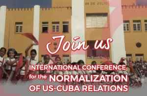Conference charts action to end blockade of Cuba