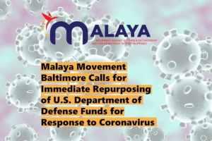 Malaya Movement Baltimore: Repurpose U.S. military funds to coronavirus response