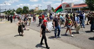 Black and white Oklahomans march to defend Second Amendment and against police brutality and local cop killings