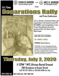New York: Reparations rally and press conference, July 2