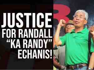 Condemn assassination of Philippines peasant leader Randall Echanis