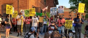 Baltimore protest hits Pence, racist attacks on voting rights
