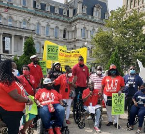 Rally for housing justice in Baltimore