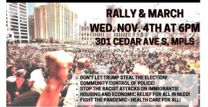 Minneapolis Day after elections: National Day of Protest for a People's Mandate, Nov. 4