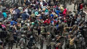 Migrant caravans flee U.S.-made crisis. Demand Biden let them in!