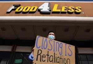 Demand for hazard pay spreads on West Coast. Kroger threatens closures