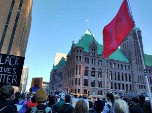 People v. Derek Chauvin opening arguments protest