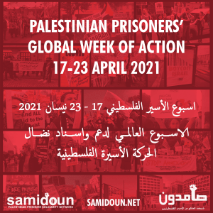 Action call from Occupied Palestine: Palestinian Prisoners' Week – 17-23 April 2021