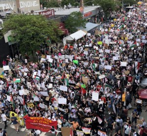 Thousands march through Queens, N.Y., in support of Palestinians