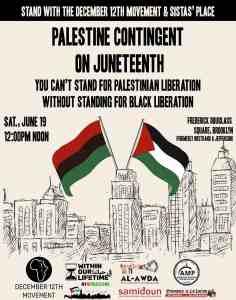 Brooklyn, N.Y.: Palestine Contingent on Juneteenth