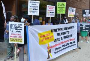 Baltimore protest demands relief for unemployed