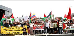 NYC/NJ activists picket Port of New York to block Israeli-operated cargo ship