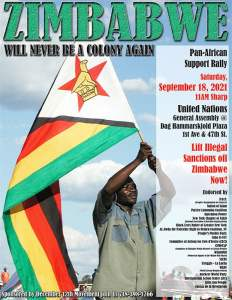 New York City: Rally for Zimbabwe at the United Nations, Sept. 18