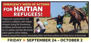 Emergency week of actions for Haitian refugees!