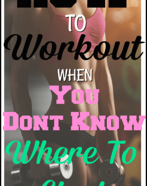 How to workout when you don't know where to start