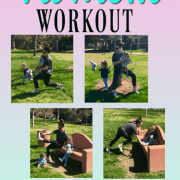 Fit mom workout with kids