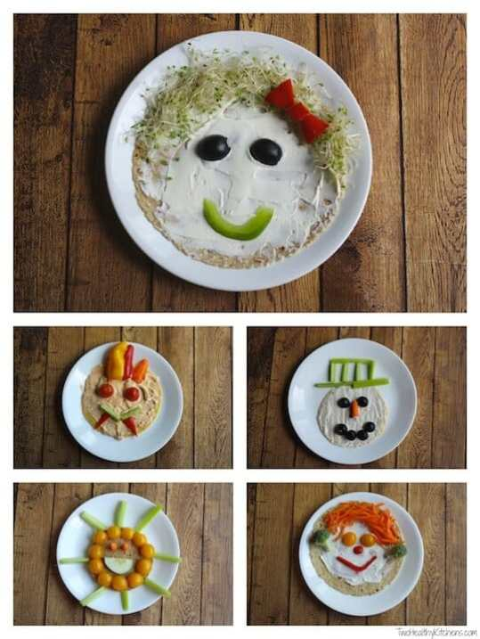 Veggie faces for picky eaters