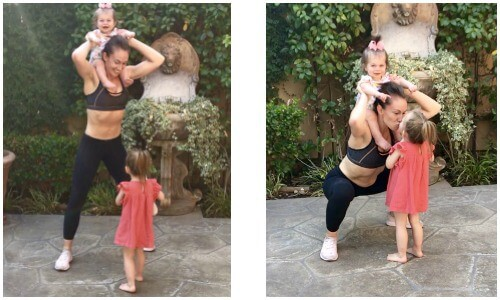 Home workout with kids to tone your legs