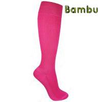 rosa stödstrumpor av bambu