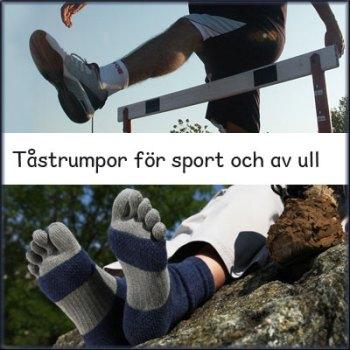 Sport och ull tåstrumpor