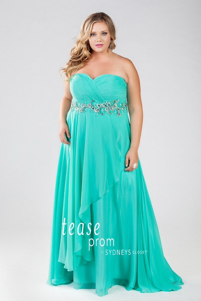 Under The Sea Theme Plus Size Prom Dresses