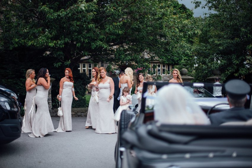 bridesmaids waiting