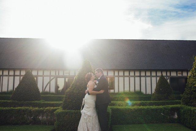 lens flare wedding image