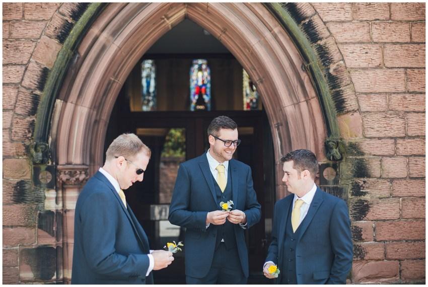 groomsmen arrive