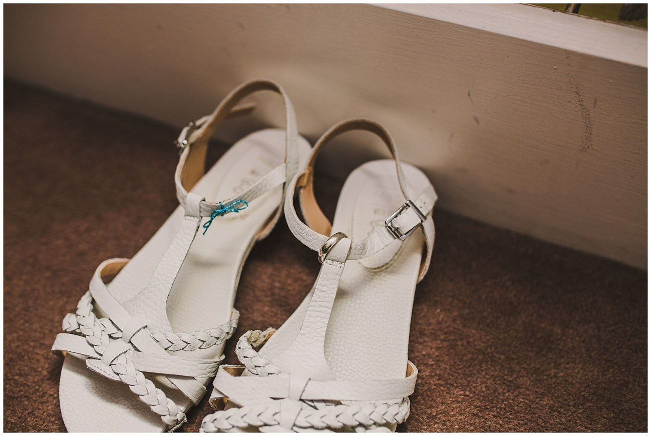 wedding shoes with wedding ring