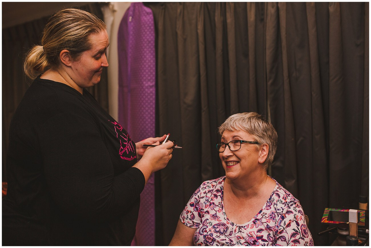 mother of the bride and make up artist
