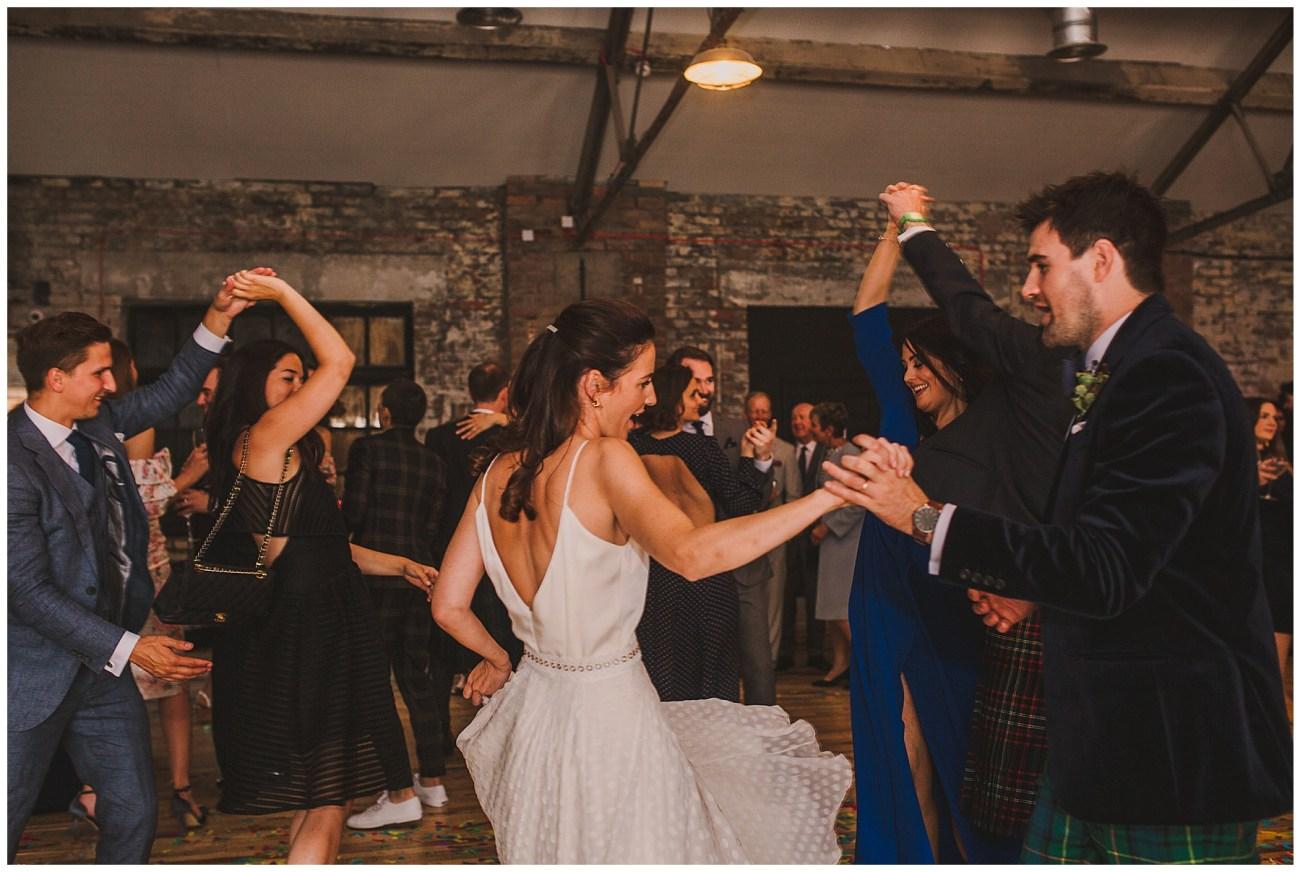 bride and groom fun dancing scale liverpool wedding
