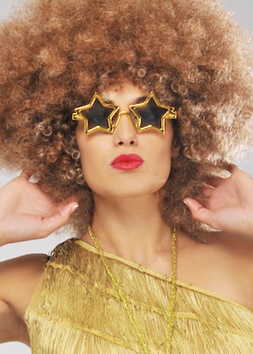 70s Disco Gold Star Glasses