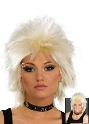 80's rock idol blonde spiky wig