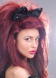 1980s black fancy dress hair bow