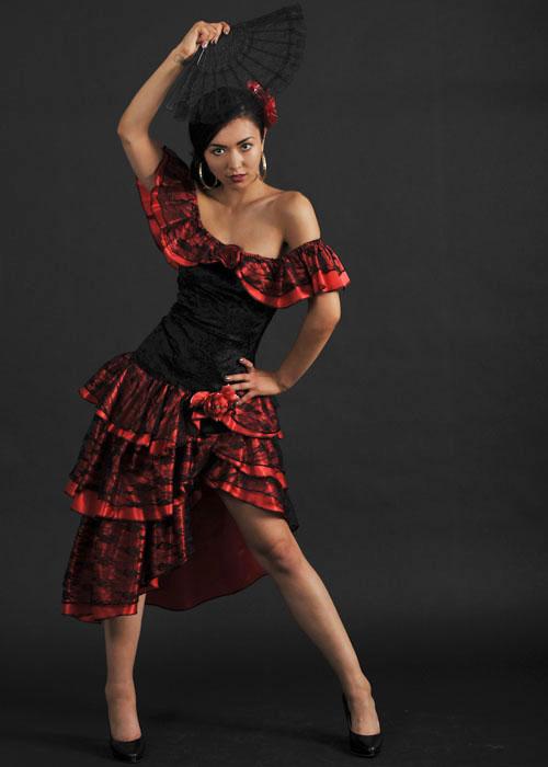 Ladies Red Mexican Senorita Costume