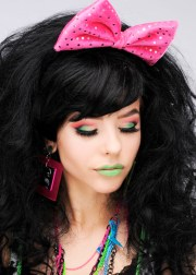 1980s pink fancy dress hair bow