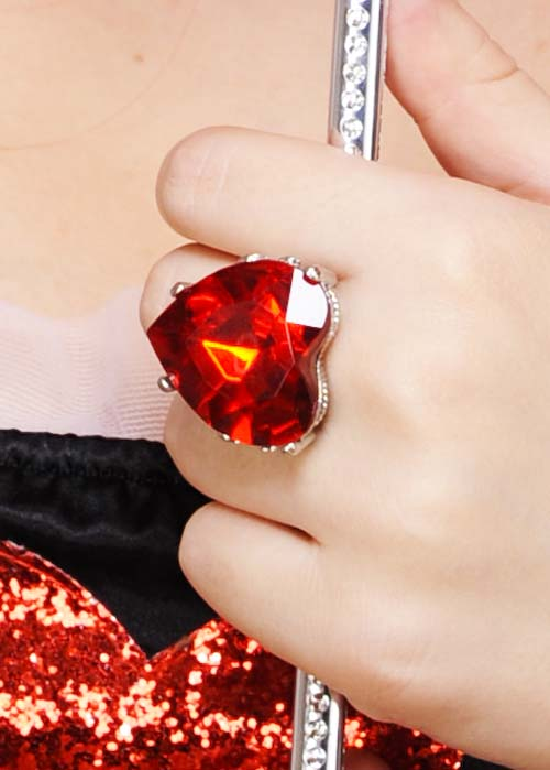 The Queen Of Hearts Large Red Heart Jewel Ring